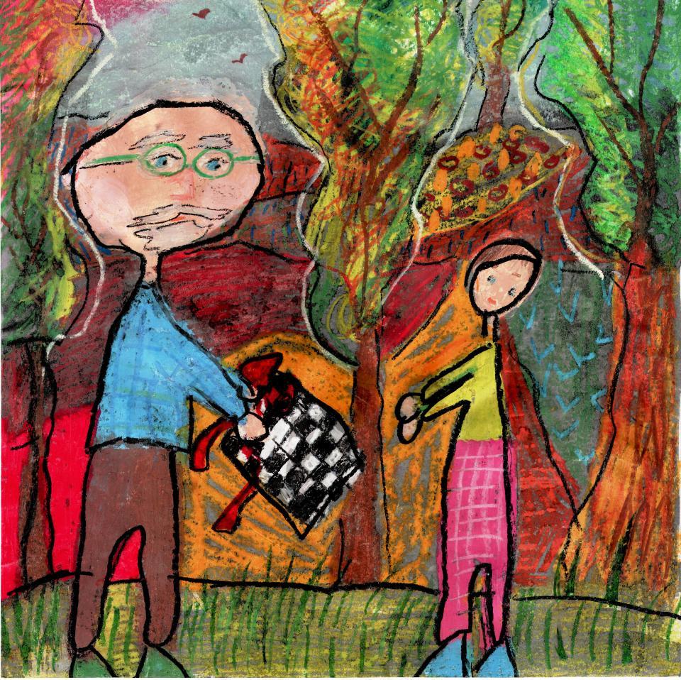 Rysunek - Magda Kabata (9 lat, Zespół Szkół w Mrzeżynie). Konkurs KRÓLEWSKA GRA - SZACHY (wyróżnienie), MDK Śródmieście Wrocław, listopad 2015.