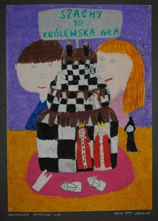 """2 Ogólnopolska Wystawa Pokonkursowa """"Królewska gra w szachy"""" 2021. Magdalena Janaszek. Zdjęcie - Ewa Felsztyńska-Korpalska."""