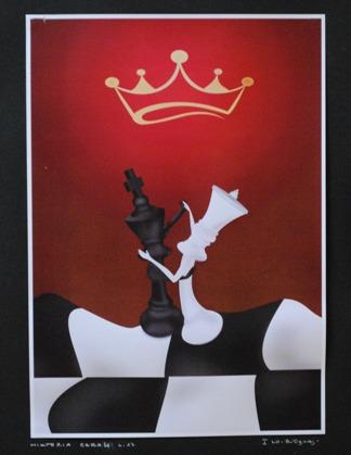 """2 Ogólnopolska Wystawa Pokonkursowa """"Królewska gra w szachy"""" 2021. Wiktoria Czerw. Zdjęcie - Ewa Felsztyńska-Korpalska."""
