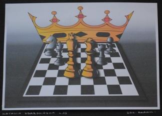 """2 Ogólnopolska Wystawa Pokonkursowa """"Królewska gra w szachy"""" 2021. Natalia Zgardzińska. Zdjęcie - Ewa Felsztyńska-Korpalska."""
