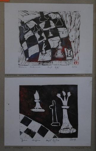 """2 Ogólnopolska Wystawa Pokonkursowa """"Królewska gra w szachy"""" 2021. Zdjęcie - Ewa Felsztyńska-Korpalska."""