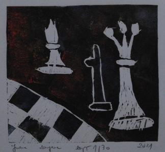 """2 Ogólnopolska Wystawa Pokonkursowa """"Królewska gra w szachy"""" 2021. Julia Zaręba. Zdjęcie - Ewa Felsztyńska-Korpalska."""